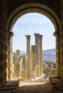 Temple of Zeus, Jerash, Jordan by Danita Delimont