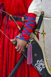 Close up of a Guard at the Ceremonial changing of the guard,... by Danita Delimont