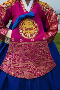 Traditional dress of a Korean woman, Gyeongbokgung Palace, S... von Danita Delimont