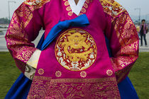 Traditional dressed of a Korean woman, Gyeongbokgung Palace,... by Danita Delimont