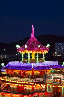 The fantastic lighting of Kek Lok Si Temple in Penang, Malaysia by Danita Delimont