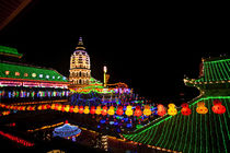 The fantastic lighting of Kek Lok Si Temple in Penang, Malaysia by Danita Delimont