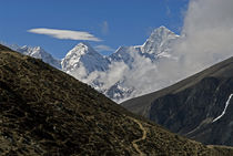 The Everest Base Camp Trail snakes along the Khumbu Valley. by Danita Delimont