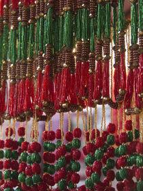Beads hang in a store in Kathmandu, Nepal. von Danita Delimont