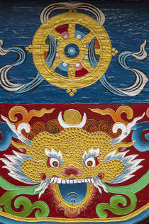 Buddhist temple, Namche Bazaar, Solukhumbu, Nepal. by Danita Delimont