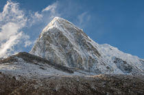 Mt. Pumori behind Kala Patthar, Nepal. by Danita Delimont