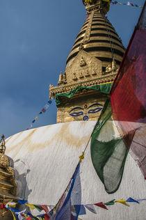 Stupa at Swayambhunath, Monkey Temple, Kathmandu, Nepal. von Danita Delimont