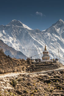 Trail through Khumbu Valley with Mt by Danita Delimont