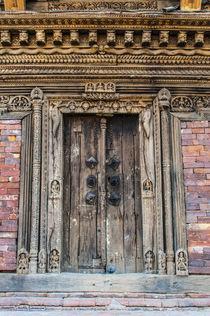 Wooden door, Bhaktapur, Kathmandu, Nepal. by Danita Delimont