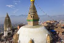 Swayamhunath Buddhist Stupa or Monkey Temple, Kathmandu, Nepal von Danita Delimont