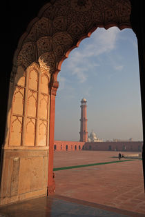 View from the arch of Badshahi Masjid, Lahore, Pakistan. by Danita Delimont