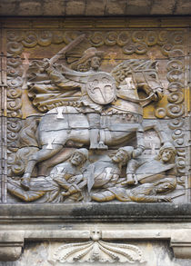Bas relief on fort gate of Fort Santiago, Manila, Philippines by Danita Delimont
