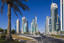 Qatar, Doha, Doha Bay, West Bay Skyscrapers, morning by Danita Delimont