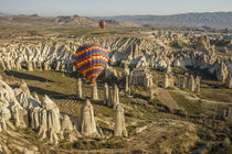 Aerial view of hot air balloons, Cappadocia, Central Anatolia, Turkey by Danita Delimont