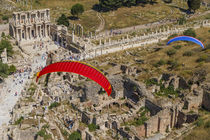Paramotors flying above Ephesus, Selcuk, Izmir, Turkey by Danita Delimont