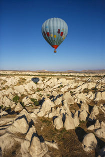 Aerial view of hot air balloon, Cappadocia, Central Anatolia, Turkey by Danita Delimont