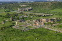 Aerial view of Perge, Antalya, Turkey by Danita Delimont