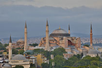 View of Haghia Sophia in evening light, Istanbul, Turkey by Danita Delimont