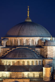 Evening light on Blue Mosque, Istanbul, Turkey by Danita Delimont