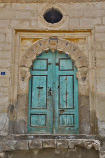 Doorways in old Greek Village Mustafapasa in Central Turkey,... by Danita Delimont