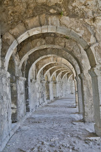 Archways old Roman theater at Aspendos near Anatalya, Turkey von Danita Delimont