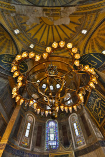 Interior of Grand Haghia Sophia, Istanbul, Turkey by Danita Delimont