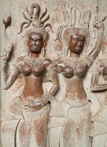 12th-century Devatas in the temple of Angkor Wat by Danita Delimont