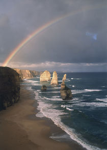 Australia, Victoria, Great Ocean Road, Rainbow and Twelve Ap... by Danita Delimont