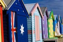 Australia, Victoria, Brighton Beach, Melbourne von Danita Delimont