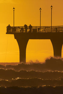 New Brighton Pier at Dawn, Christchurch, South Island, New Zealand. von Danita Delimont