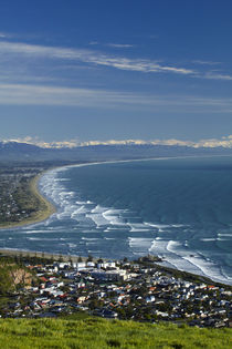 Sumner, mouth of Avon and Heathcote Rivers, and New Brighton... von Danita Delimont
