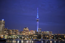 Looking across the Waitemata Harbor and the Sky Tower from t... by Danita Delimont
