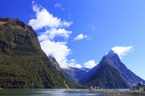 Milford Sound on the South Island of New Zealand is famous f... von Danita Delimont