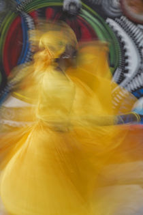 Cuban dancer in motion, Callejon de Hamel, Cuba by Danita Delimont