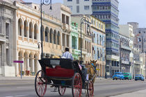 Horse carriage on the street, Havana, UNESCO World Heritage site, Cuba by Danita Delimont
