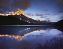 Canada, Alberta, Banff National Park, Mount Chephren reflect... by Danita Delimont
