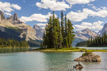 Canada, Alberta, Jasper National Park, Maligne Lake and Spirit Island by Danita Delimont