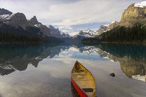 Lake Maligne, near Jasper, Jasper National Park, Alberta, Canada, by Danita Delimont