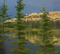 Miette Range and Talbot Lake, Jasper National Park, Alberta, Canada von Danita Delimont