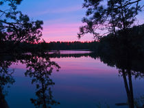 Canada, Ontario, Quetico Park, Lake Agnes wilderness sunset ... by Danita Delimont