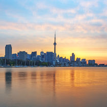 Toronto Skyline at sunrise by Danita Delimont