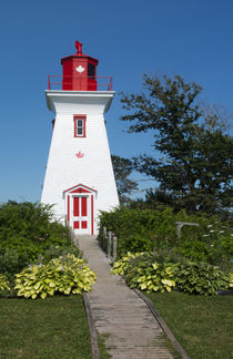 Canada, Prince Edward Island, Victoria, beautiful old Lighth... by Danita Delimont