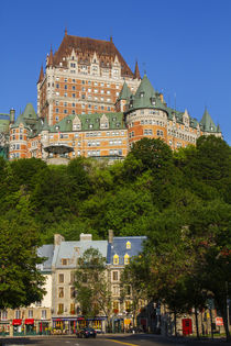 Canada, Quebec, Quebec City, lower old town with Chateau Fro... by Danita Delimont
