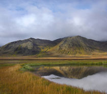 Ogilvie Mountains reflect in a tundra tarn, Yukon Territory, Canada by Danita Delimont