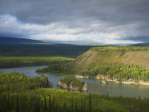 Yukon River at Five Finger Rapids Recreation Area, Yukon Ter... by Danita Delimont