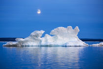 Moon and Melting Iceberg, Repulse Bay, Nunavut Territory, Canada by Danita Delimont