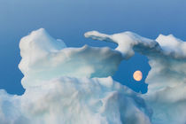 Full Moon and Iceberg, Repulse Bay, Nunavut Territory, Canada von Danita Delimont