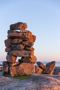 Stone Cairns in Arctic, Nunavut Territory, Canada by Danita Delimont