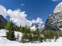 Karwendel mountain range nera Gramai,Tyrol,Austria von Danita Delimont