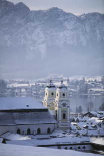 Austria, Salzkammergut, Mondsee Town and 15th Century Parish Church by Danita Delimont